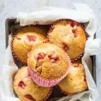Orange Strawberry Muffins