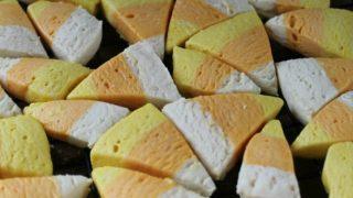 Simple Candy Corn Sugar Cookies