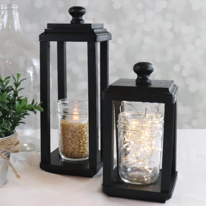 Learn how to make a simple wood lantern