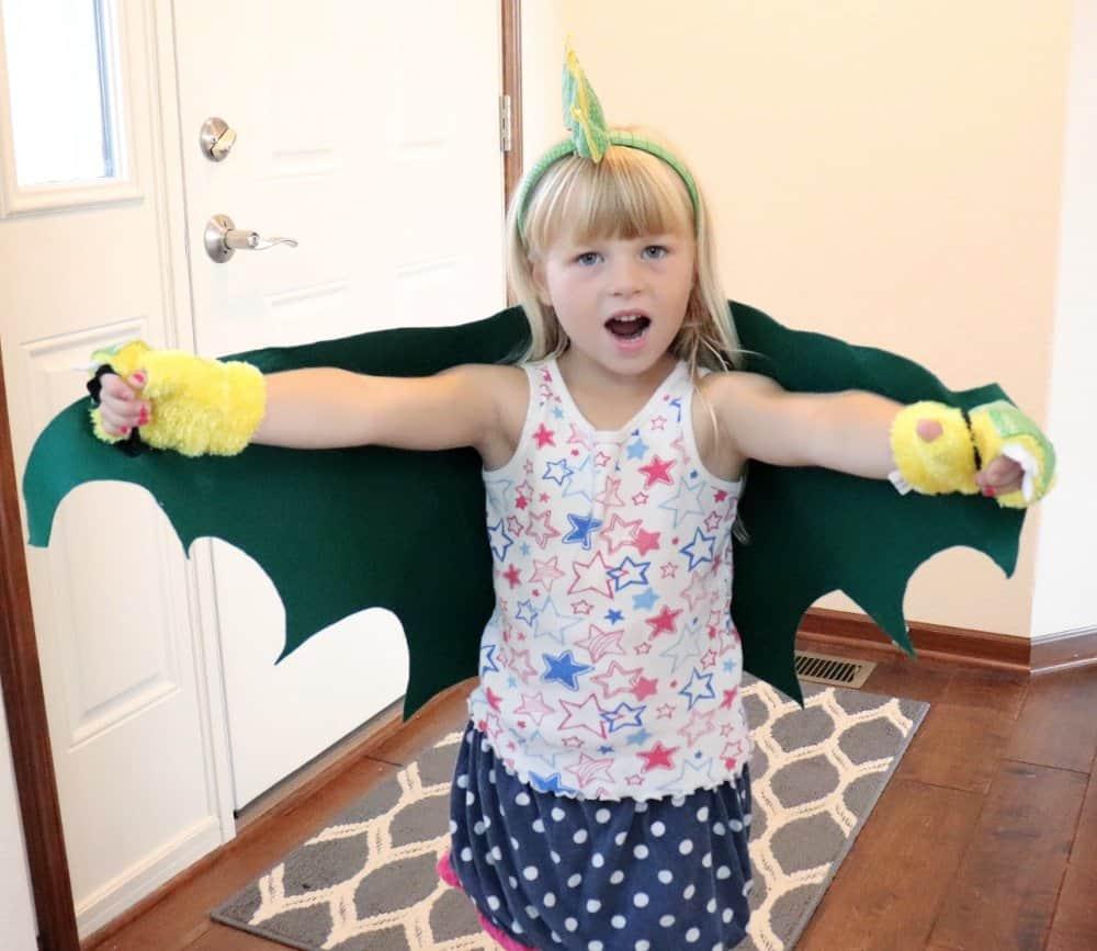 Simple Felt Dragon Costume for Kids