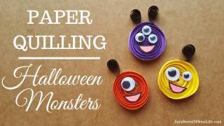Paper Quilling: Halloween Monster