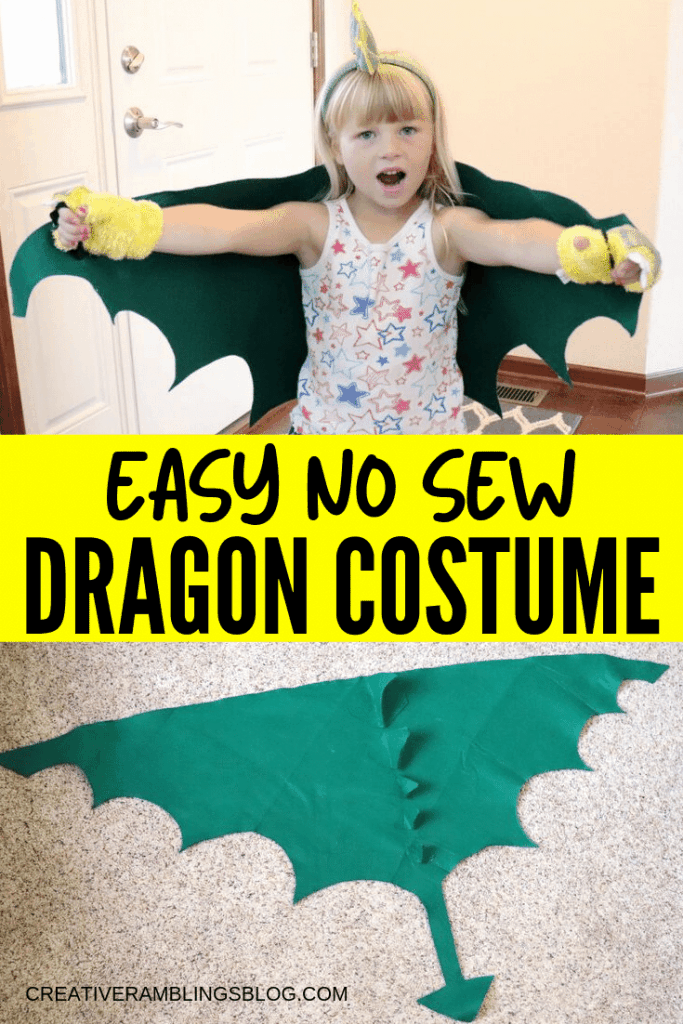 felt dragon costume tutorial