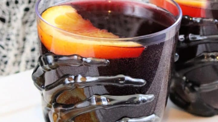 Sparkling Red Halloween Punch