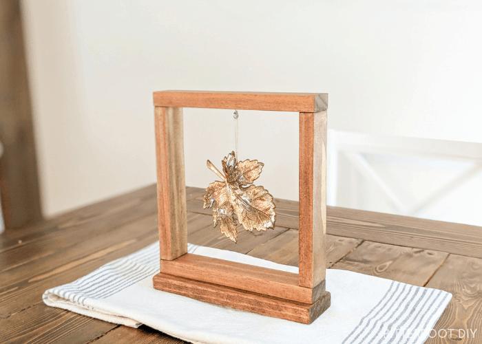 DIY Fall Decor - Framed Leaf