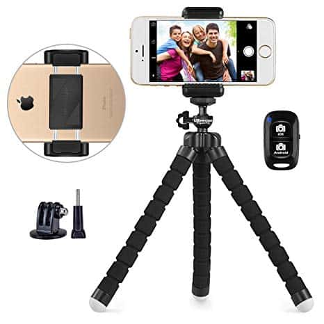 Portable phone tripod
