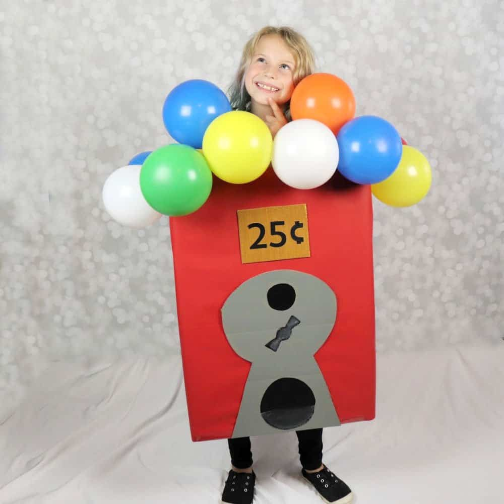 Halloween gumball machine boxtume