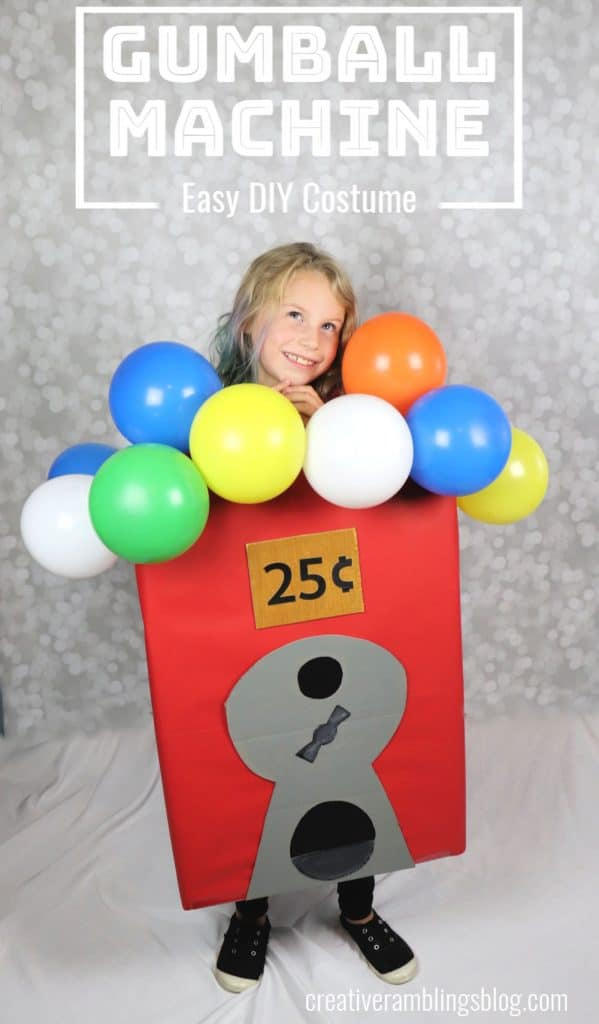 Learn how to make a gumball machine Halloween costume. A boxtume, made from Amazon smile boxes.