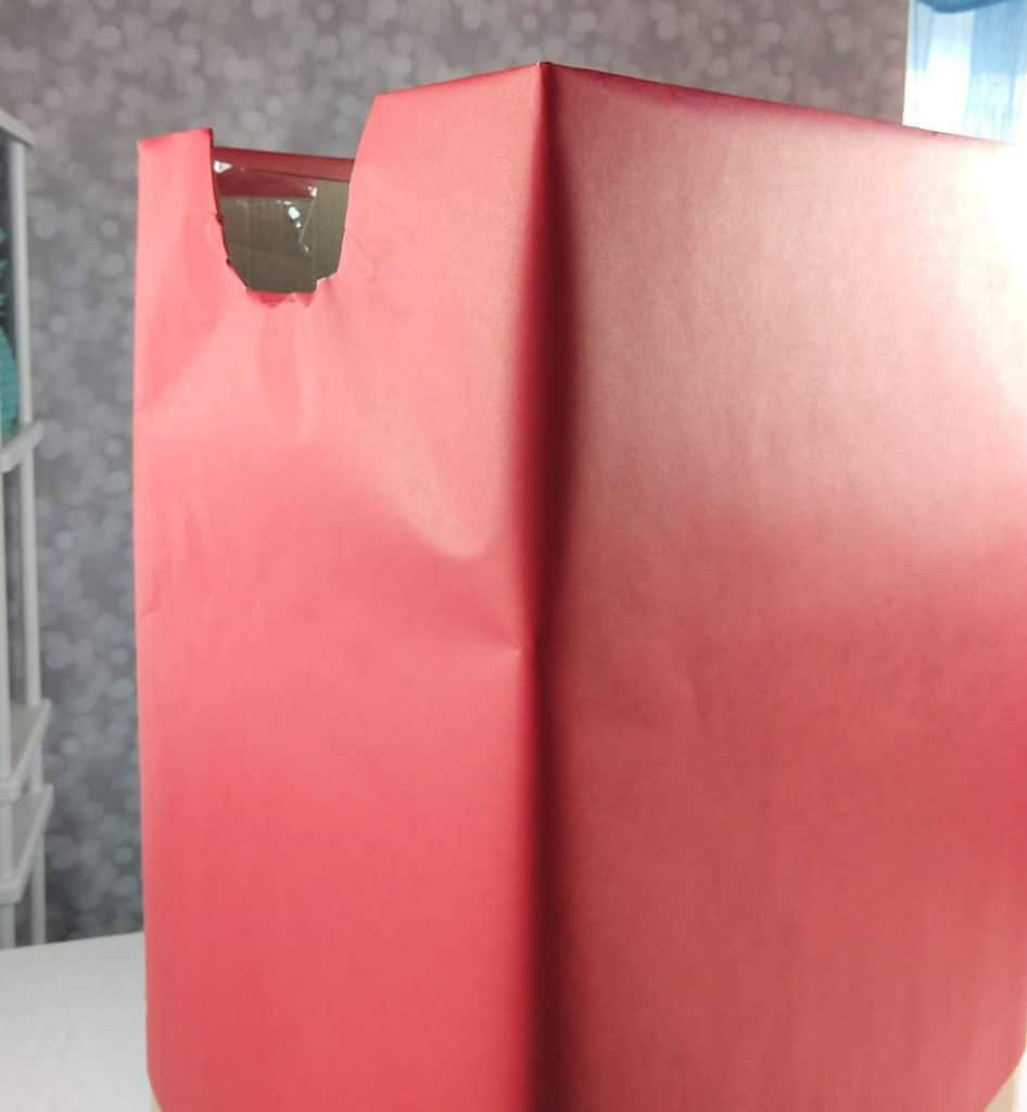 wrap box in red to make gumball machine costume