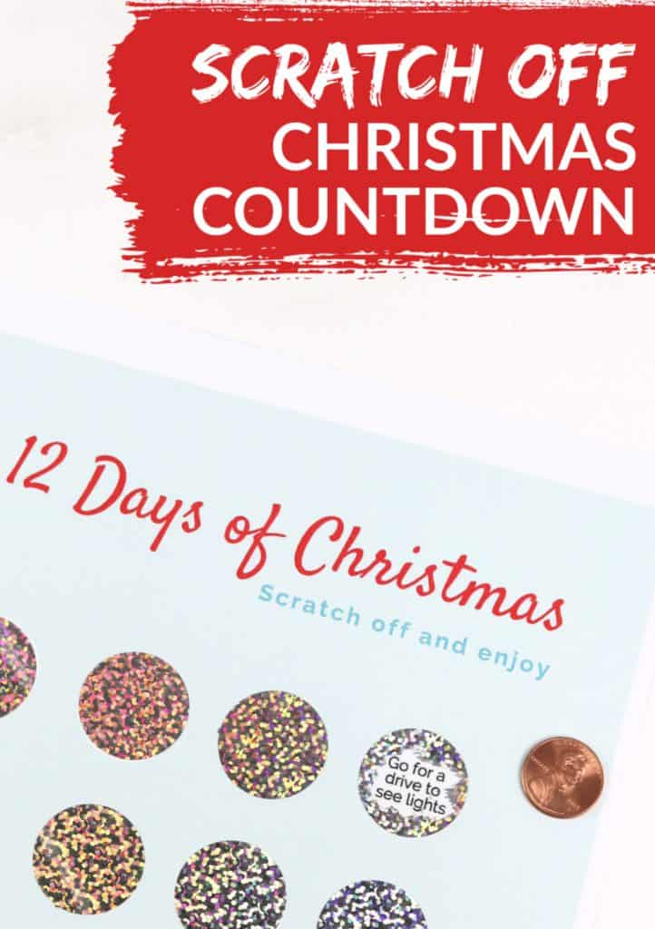 Christmas Countdown Printable with Scratch Off Stickers 3