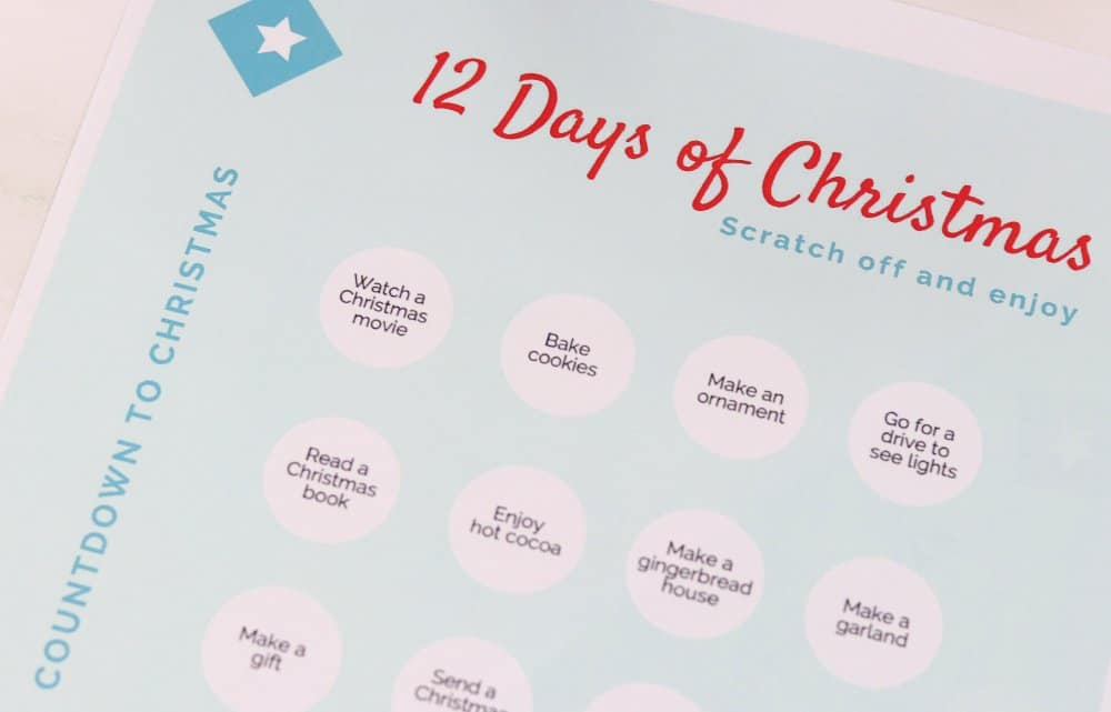 Christmas Countdown Printable with Scratch Off Stickers 4