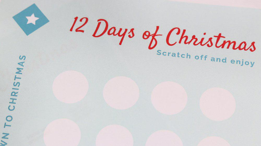 Christmas Countdown Printable with Scratch Off Stickers 5