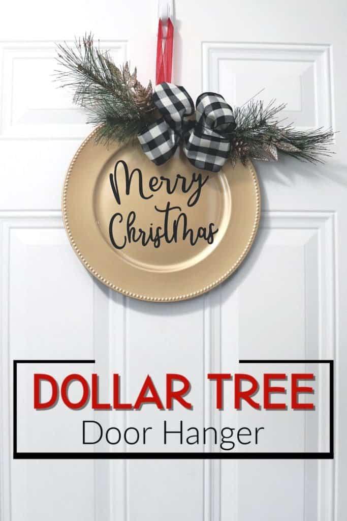 Dollar Tree Christmas door decor door hanger