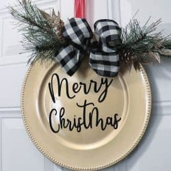 Dollar Tree Christmas door decor square
