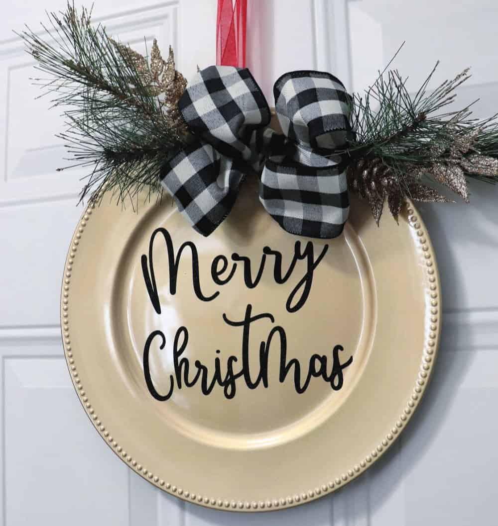 Dollar Tree Christmas Door Decor Creative Ramblings