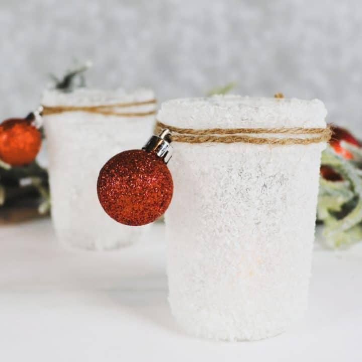 Easy Snow Covered Mason Jar Craft - Creative Ramblings