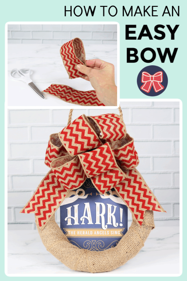 How to make an easy bow for a burlap bow wreath