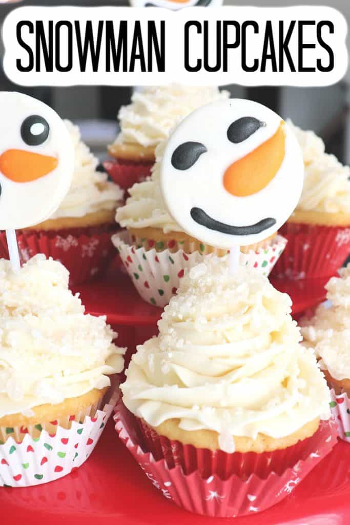 easy snowman cupcakes to make with kids