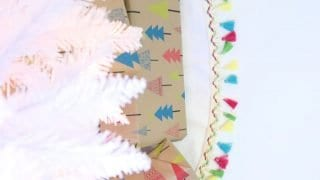 How to Make a Christmas Tree Skirt with Tassels