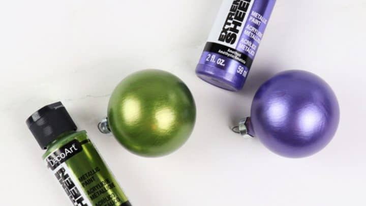 How to Update Old Ornaments with Paint