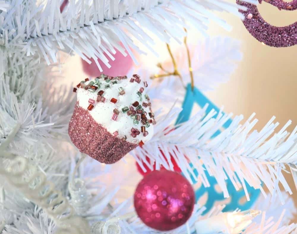 white christmas tree cupcake ornaments