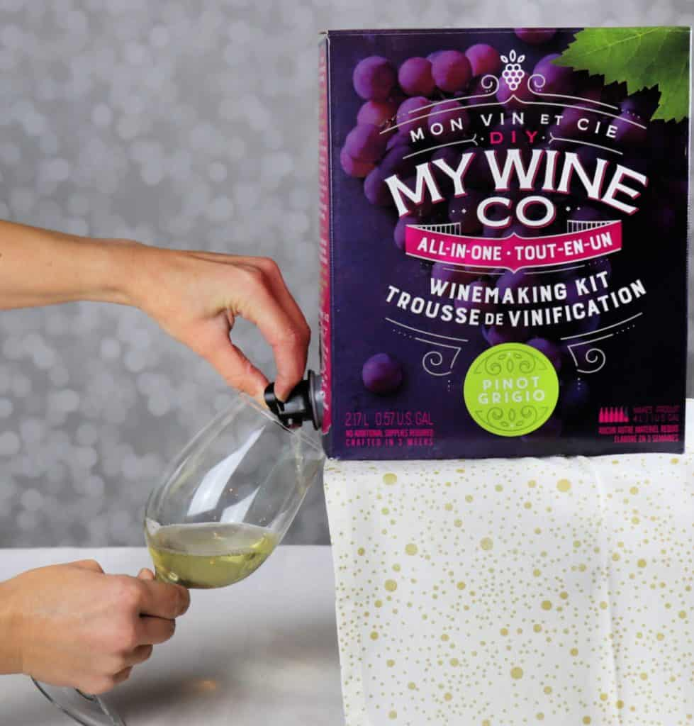 Pouring DIY My Wine into a glass
