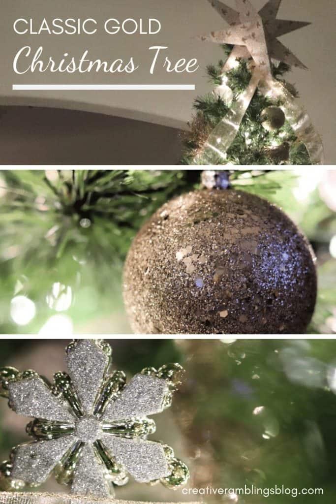 classic gold christmas tree decor ideas