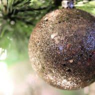 classic gold christmas tree ornament