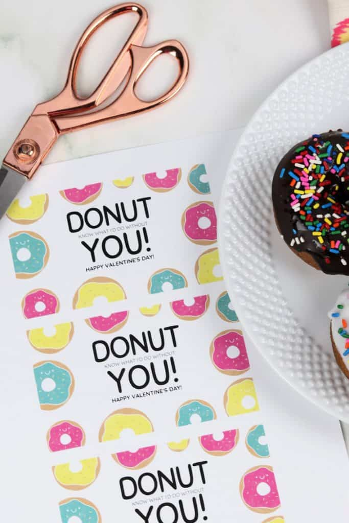 Donut Valentine Printable sheet