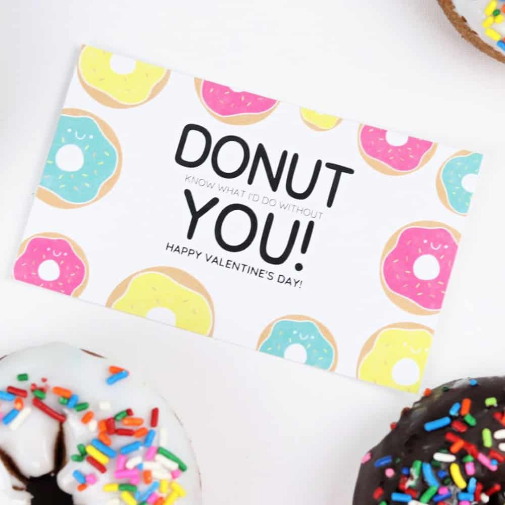 Donut Valentine square