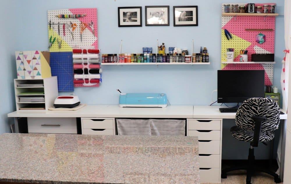 Ikea craft room desk