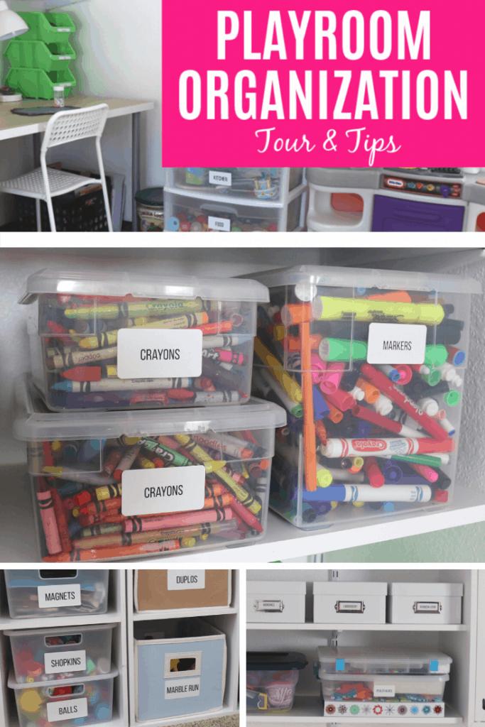 Playroom organization tour and tips