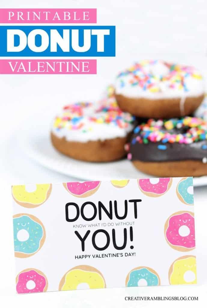 Printable donut Valentine