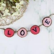 Easy Valentine's Day Wood Garland
