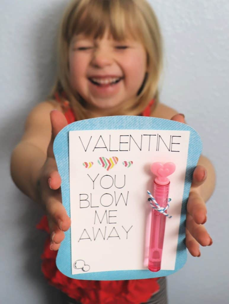 You blow me away Valentine - Cricut bubble Valentine