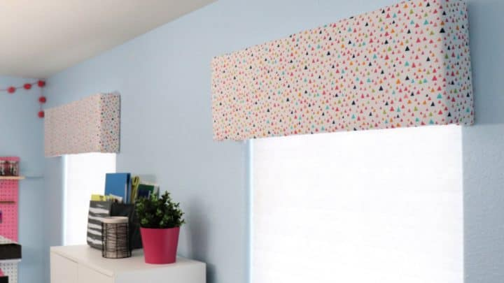Fabric Covered Window Cornice