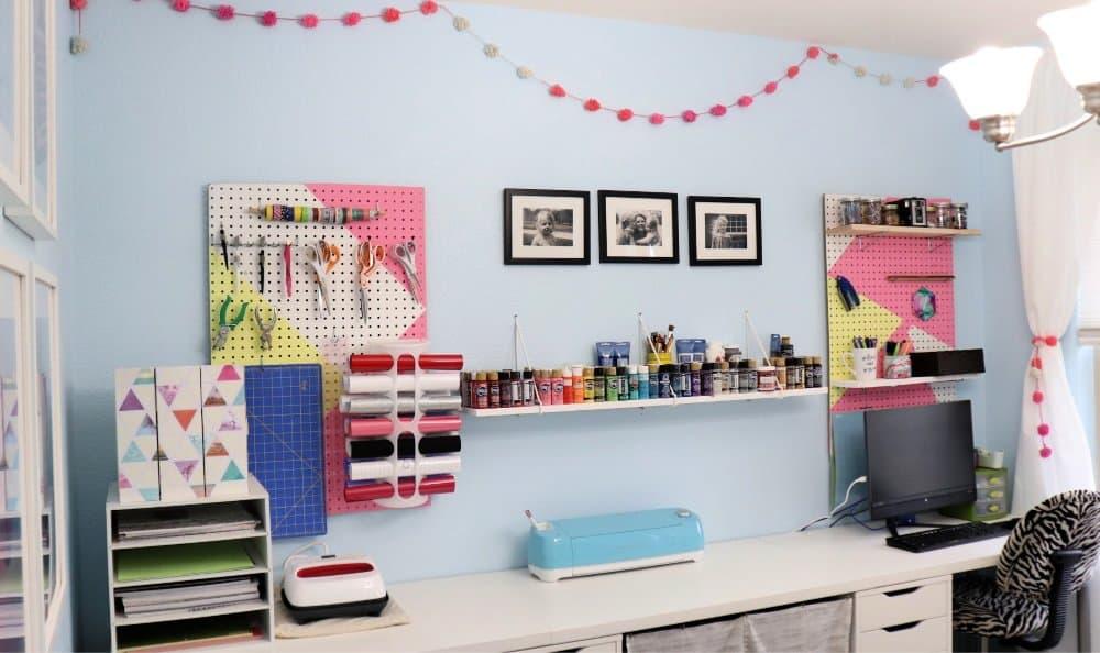 craft room organization wide shot