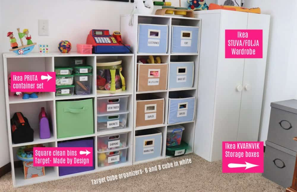 toys in playroom organization