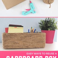Cardboard box upcycle