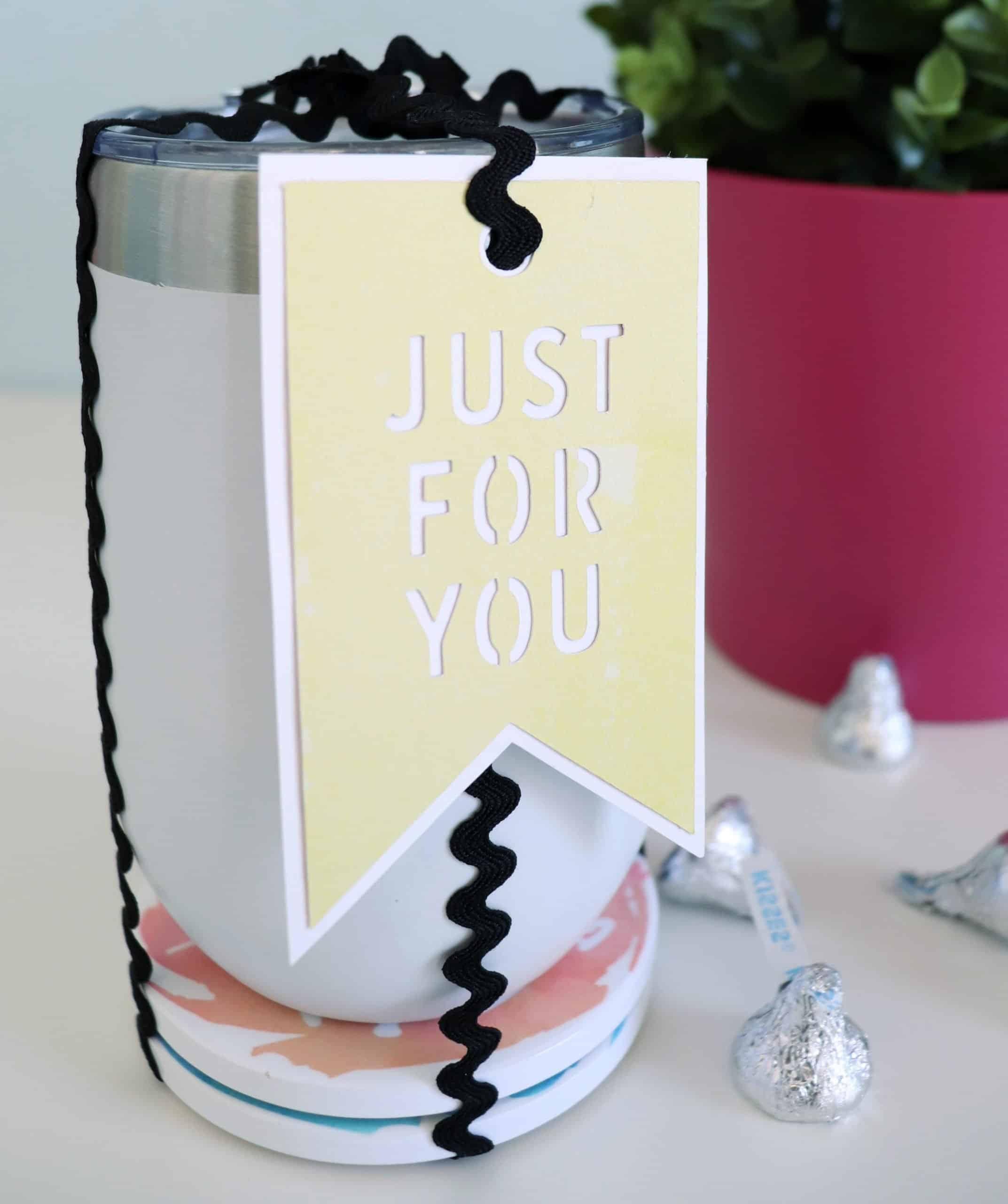 cricut infusible ink coasters with tumbler gift