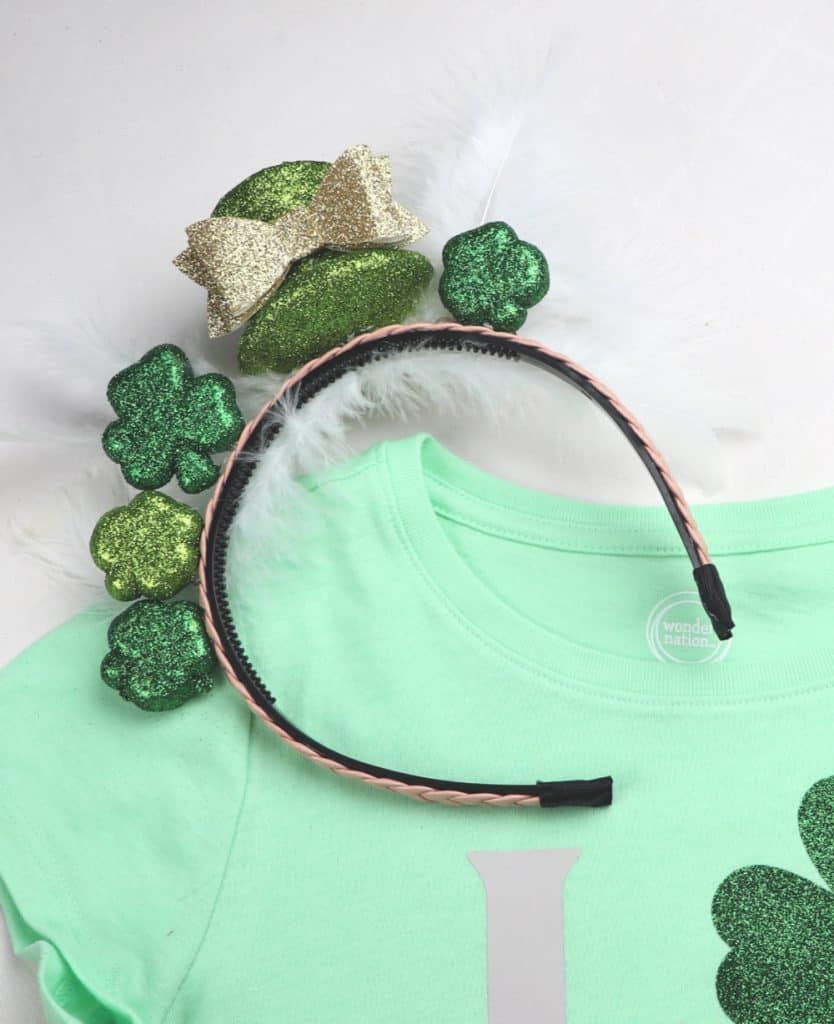 Cricut St. Patrick's Day headband