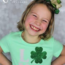 Cricut St. Patrick's Day shirt and headband
