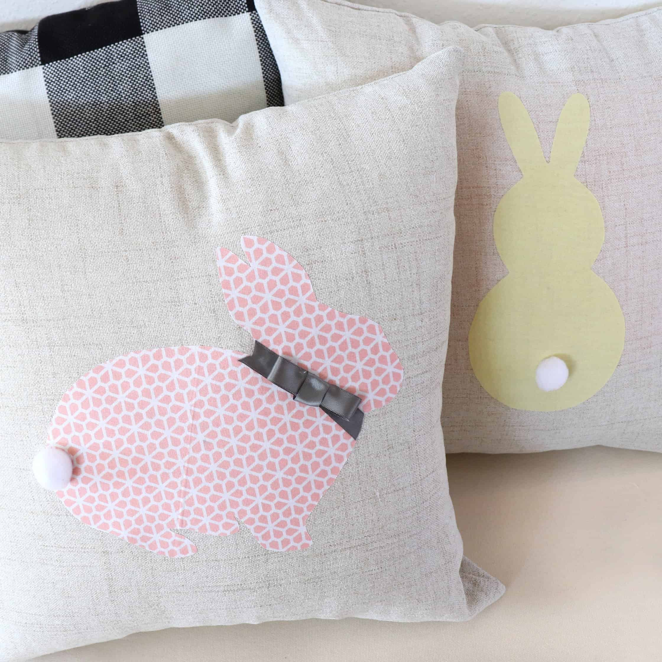 No sew Easter pillows