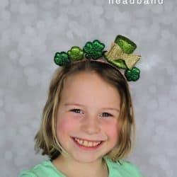 easy kids craft St Patrick's Day headband
