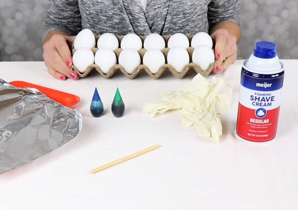 shaving cream egg supplies
