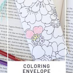 Coloring envelope bookmark