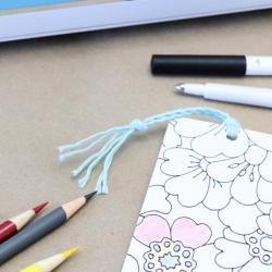 DIY Coloring Bookmarks