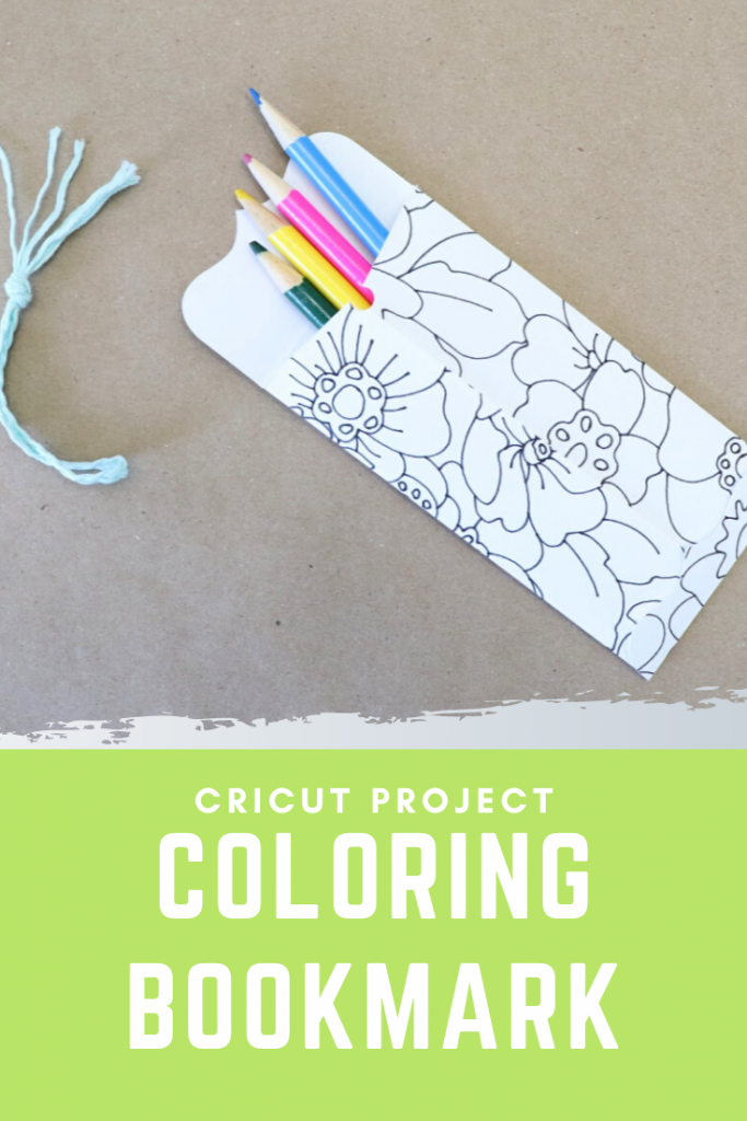 Cricut Coloring Bookmark