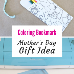 Coloring bookmark with Cricut