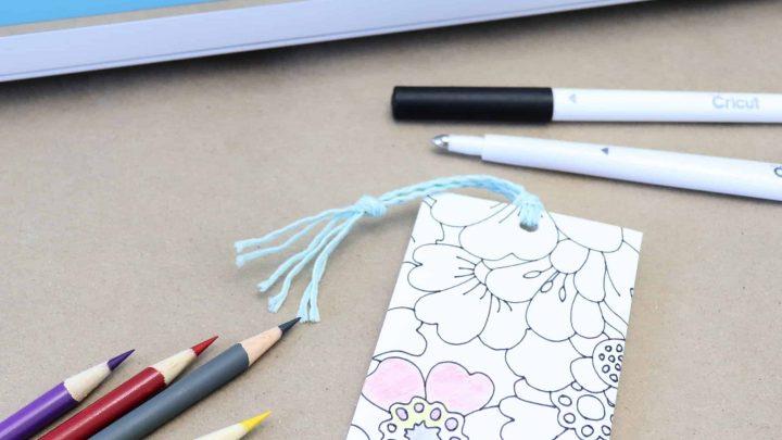 Cricut coloring bookmark