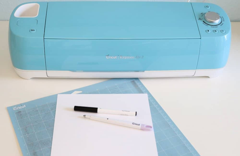 Cricut coloring bookmark supplies